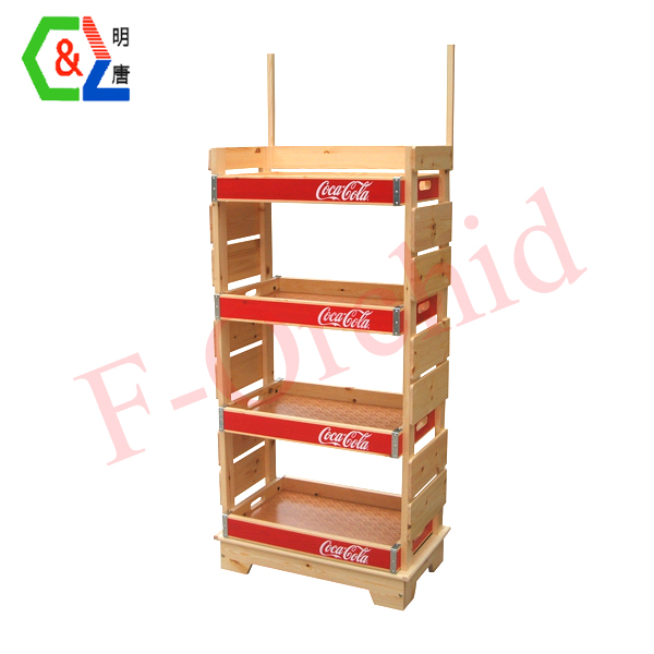 Retail Store Four Layers Cola Beverage Racks RS-BVR07