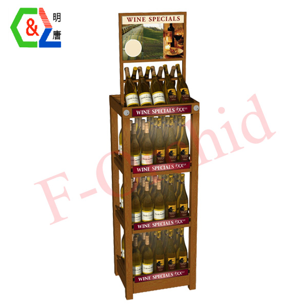 Stand Wodden Four-layer Wine Racks RS-WN05
