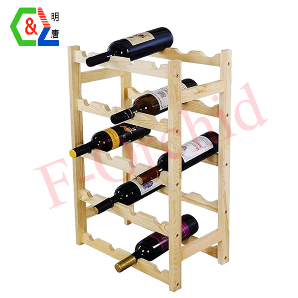 Wooden Stand Wine Display Rack